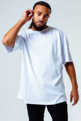 HYPE WHITE OVERSIZED MEN'S T-SHIRT