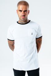 HYPE WHITE RINGER MEN'S T-SHIRT