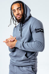 HYPE GREY INSIGNIA MEN'S PULLOVER HOODIE