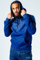 HYPE NAVY SPECKLE FADE MEN'S PULLOVER HOODIE