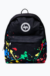 HYPE BLACK PAINT SPLATTER BACKPACK
