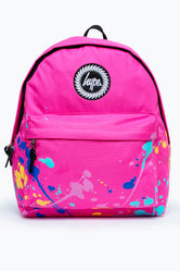 HYPE PINK PAINT SPLATTER BACKPACK