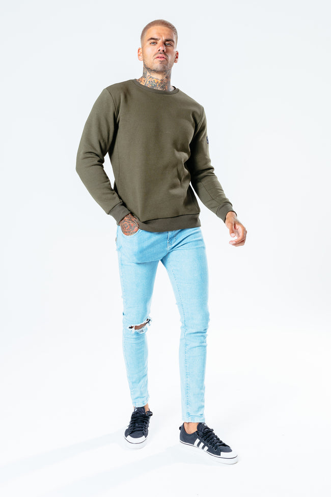 HYPE KHAKI INSIGNIA MEN'S CREW NECK