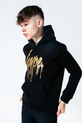 HYPE GOLD DRIPS SCRIPT KIDS PULLOVER HOODIE