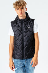 HYPE BLACK KIDS GILET
