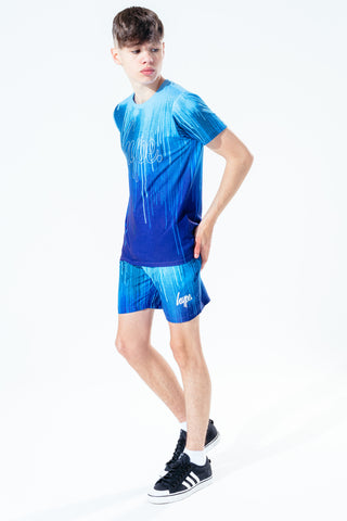 Hype Blue Drips Kids Shorts