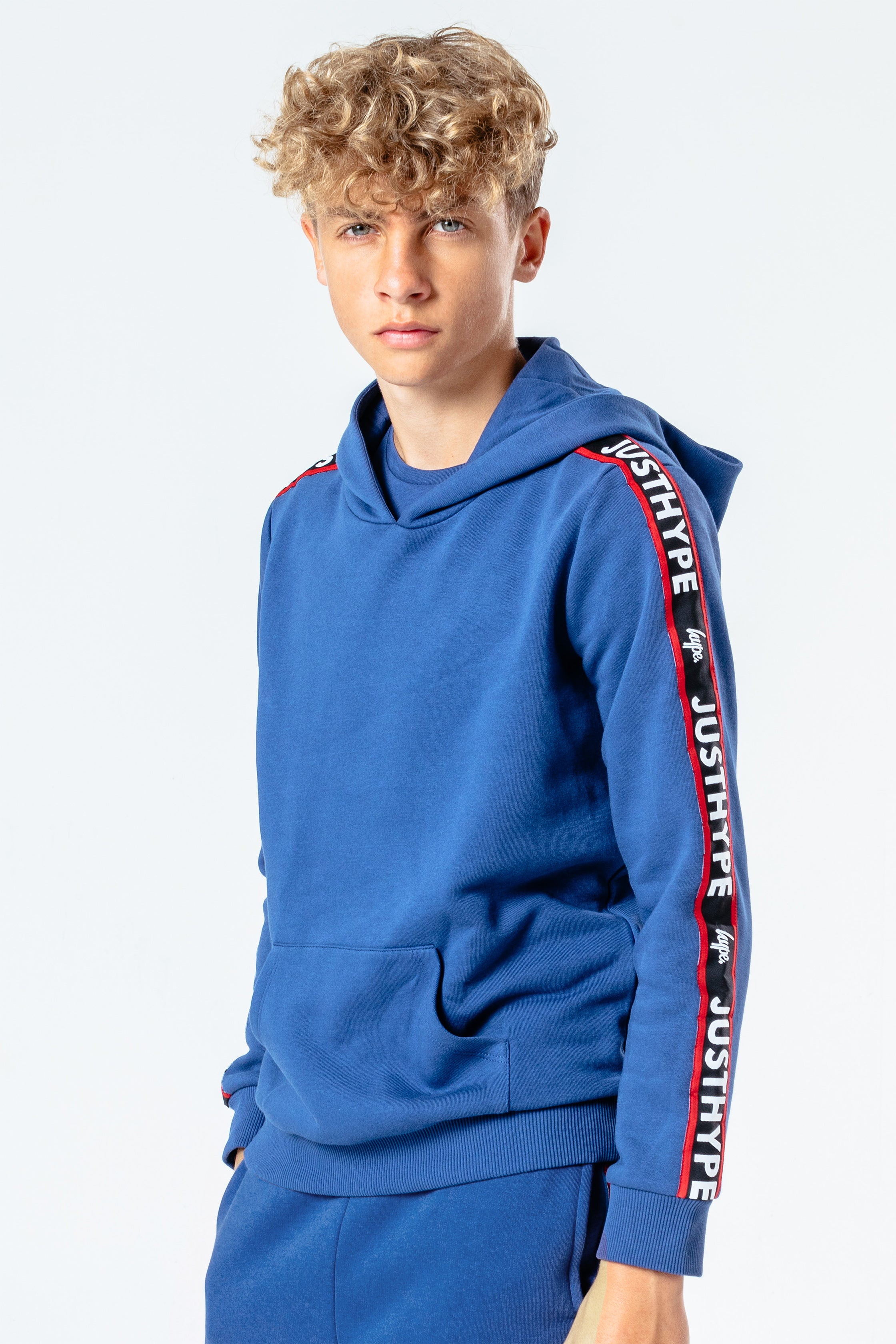 Hype Blue Jh Tape Kids Pullover Hoodie | Size 5/6Y