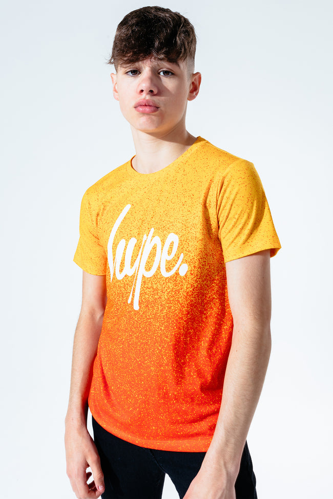 HYPE SUNDOWN SPECKLE FADE KIDS T-SHIRT