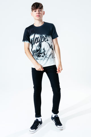 HYPE MARBLE BLACK FADE KIDS T-SHIRT