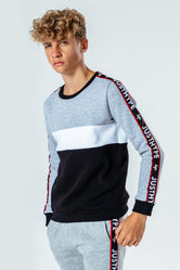 HYPE GREY JH TAPE KIDS CREW NECK