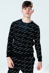 HYPE BLACK JH REPEAT KIDS CREW NECK