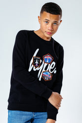 HYPE SPACE PATCH KIDS CREW NECK