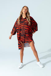 HYPE BRICK TIGER WOMEN'S OVERSIZED SHIRT