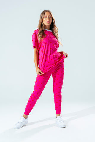 HYPE PINK HEART WOMEN'S OVERSIZED T-SHIRT