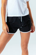 HYPE BLACK WOMEN'S RUNNING SHORTS