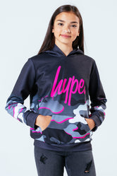 HYPE PINK LINE CAMO KIDS PULLOVER HOODIE