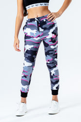 HYPE PINK LINE CAMO KIDS JOGGERS