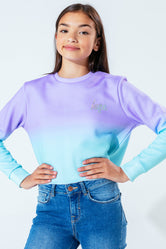 HYPE PEPPERMINT FADE KIDS CROP CREW NECK