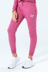 HYPE ROSE GOLD SCRIPT KIDS JOGGERS