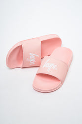 HYPE PINK SCRIPT KIDS SLIDERS