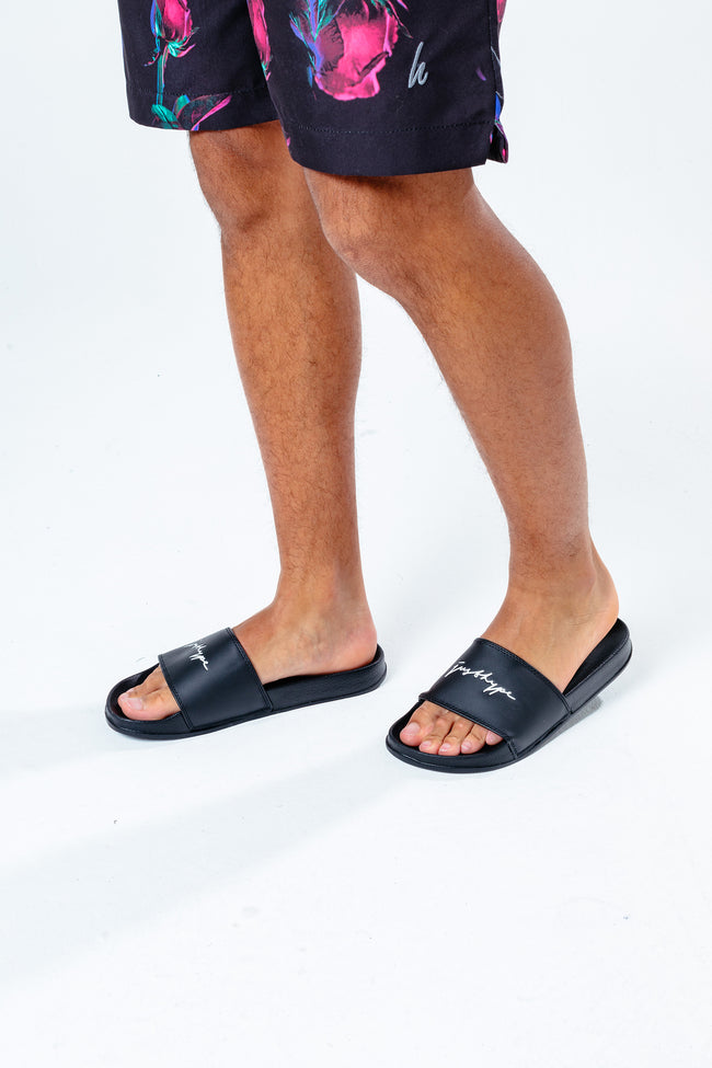 HYPE BLACK SIGNATURE MEN'S SLIDERS