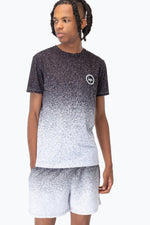 HYPE BLACK SPECKLE FADE MENS T-SHIRT