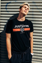 HYPE BLACK RED LINE MENS T-SHIRT