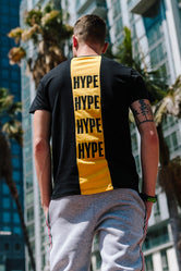 HYPE BLACK BACK BLOCK MENS T-SHIRT