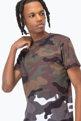 HYPE HALF CAMO MENS T-SHIRT