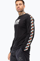 HYPE CHEVRON TAPE MENS L/S T-SHIRT