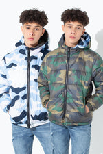 HYPE DOUBLE CAMO KIDS PUFFER JACKET