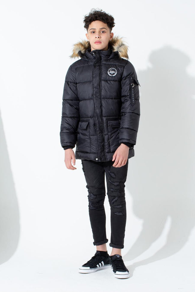 HYPE BLACK CREST KIDS EXPLORER JACKET