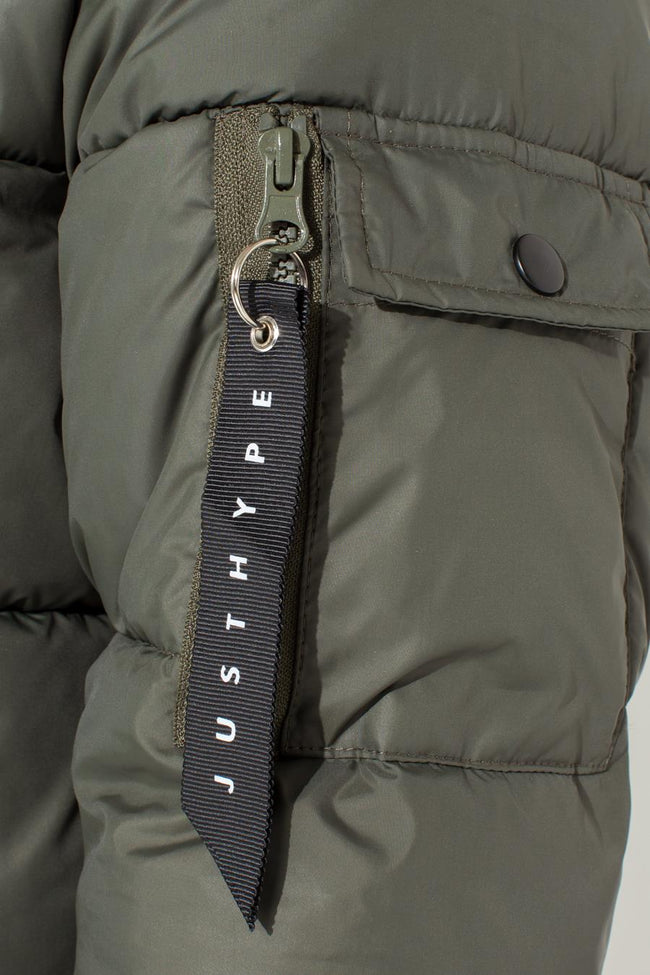 HYPE KHAKI CREST KIDS EXPLORER JACKET