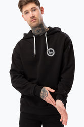 HYPE BLACK CREST MEN'S OVERSIZED PULLOVER HOODIE