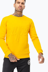HYPE MANGO EMBOSSED SCRIPT MEN'S CREW NECK