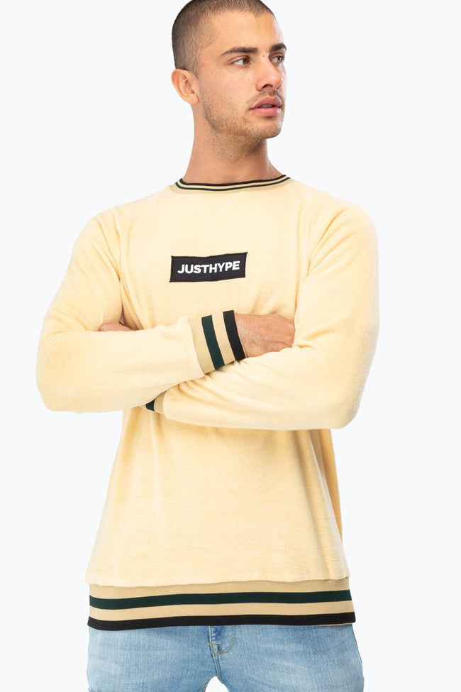 Hype Cream Towel Mens Crew Neck