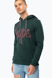 HYPE FOREST BURGUNDY SCRIPT MEN'S PULLOVER HOODIE