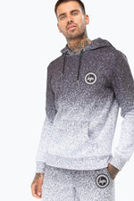 HYPE BLACK SPECKLE FADE MENS PULLOVER HOODIE