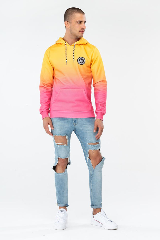 HYPE MANGO FADE MENS PULLOVER HOODIE