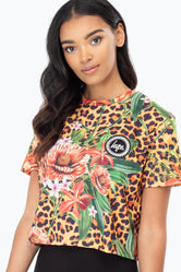 HYPE JUNGLE 23 WOMENS CROP T-SHIRT
