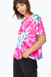 HYPE WATERMELON TIE DYE WOMENS T-SHIRT