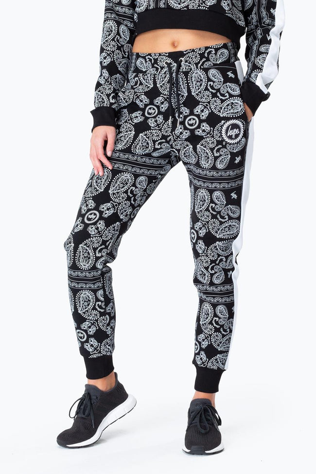 HYPE BLACK BANDANA WOMENS JOGGERS