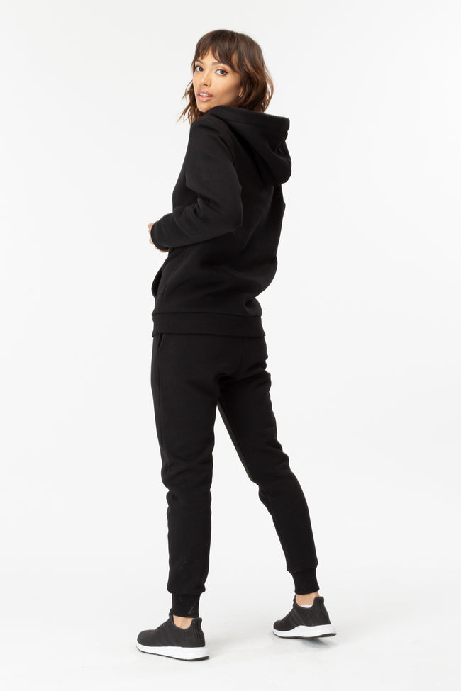 HYPE BLACK JH STRING WOMENS PULLOVER HOODIE