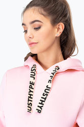 HYPE PINK JH STRING WOMENS PULLOVER HOODIE