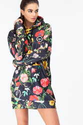 HYPE REGAL BIRD WOMENS PULLOVER HOODIE DRESS