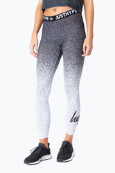 HYPE BLACK SPECKLE FADE WOMENS LEGGINGS