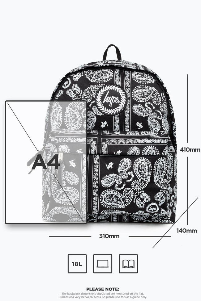 HYPE BLACK BANDANA BACKPACK