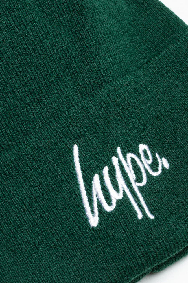 HYPE FOREST SCRIPT BOBBLE BEANIE