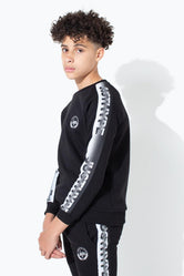 HYPE SPECKLE TAPE KIDS CREW NECK