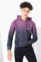 HYPE BURGUNDY SPECKLE FADE KIDS PULLOVER HOODIE